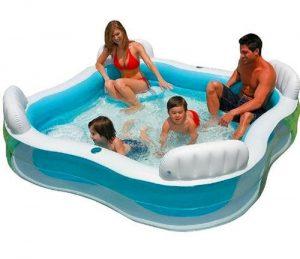 piscina hinchable con asientos