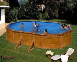 Piscina desmontable madera ovalada Gre